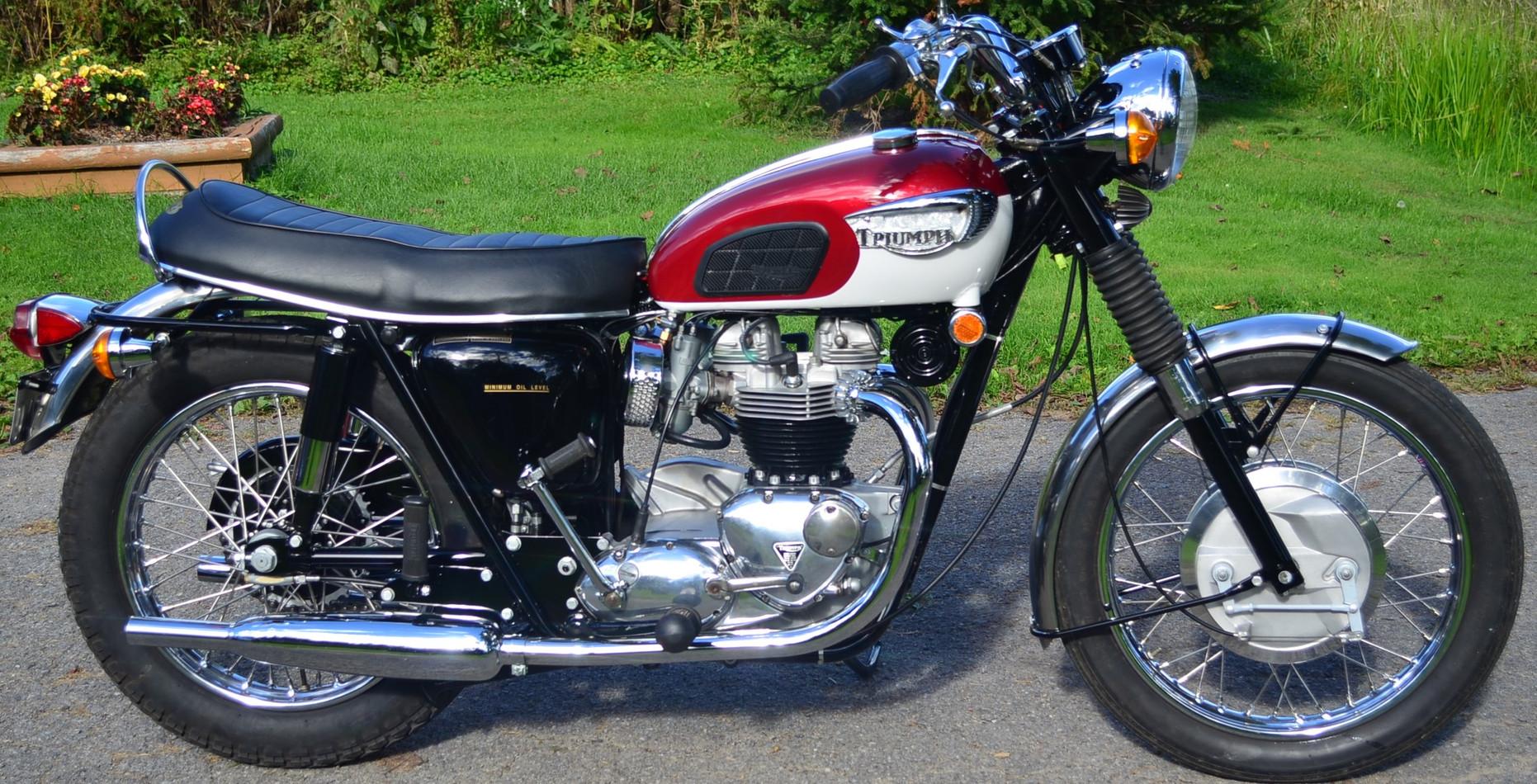 1968 650 Triumph Bonneville motorcycle