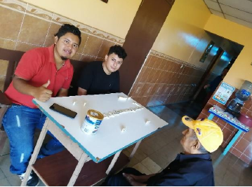 Students visiting and interacting with the elderly