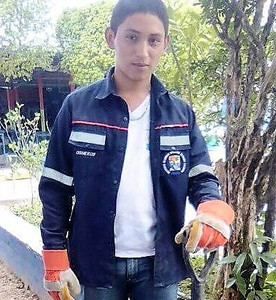 Luis, an Otra Fe sponsored student studying to be an agriculturist