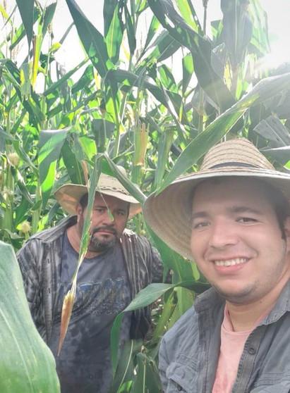 Don Juan in his cornfield in San Diego