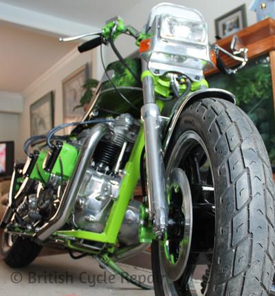 Double Trouble - double engine Triumph motorcycle