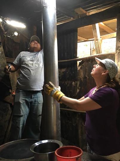 Repairing a Lorena stove
