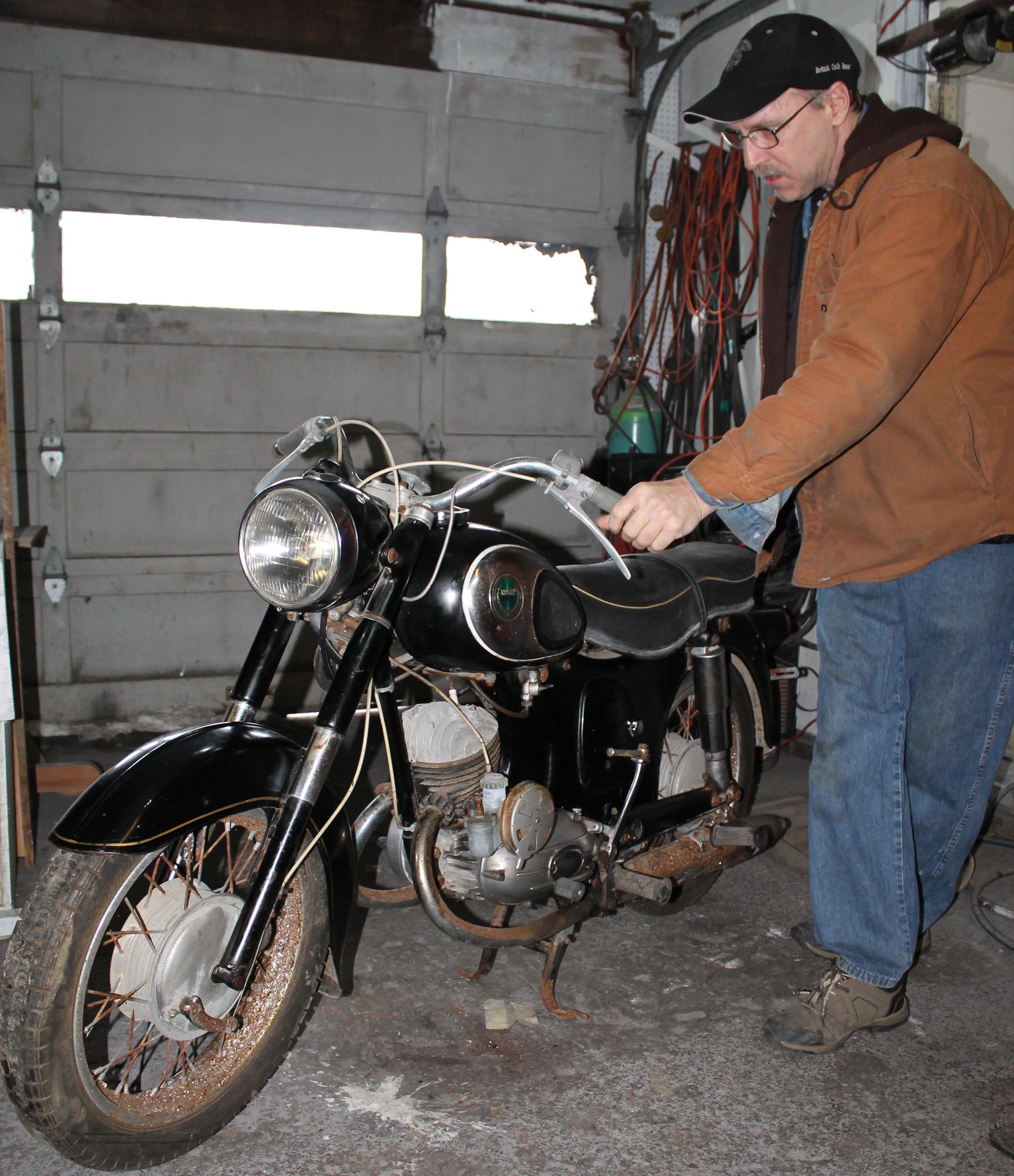 1966 Simpson Sears 175 Vtwin motorcycle