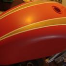 1973 Triumph Bonneville motorcycle paint