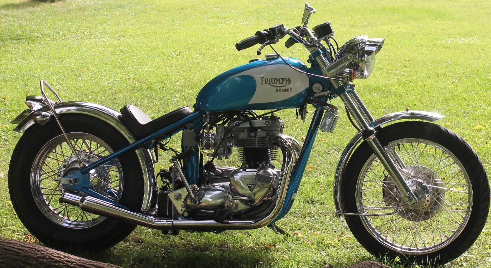 1973 750 Triumph Bonneville motorcycle