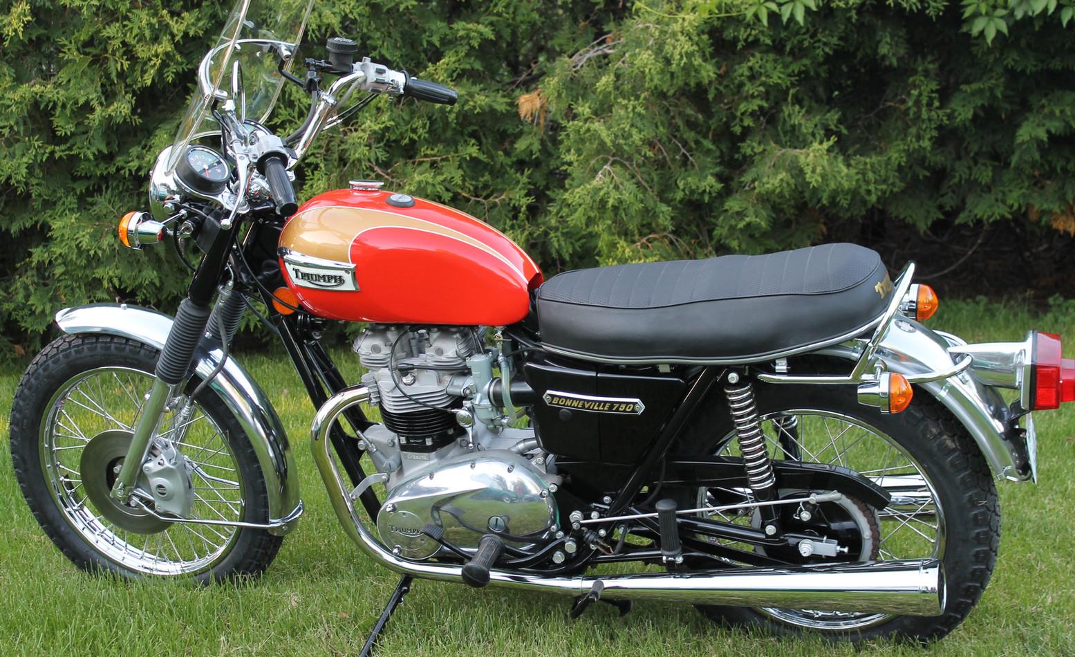 1973 Triumph Bonneville motorcycle - the