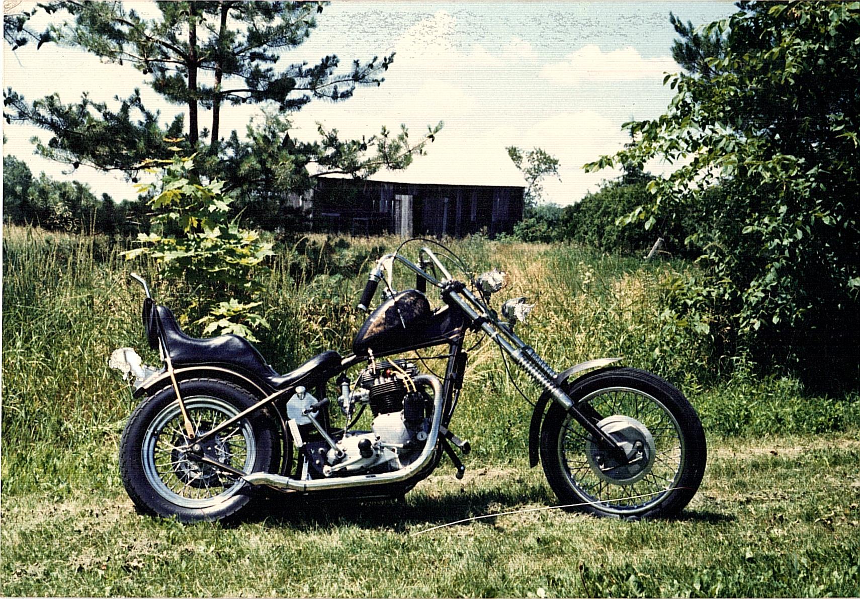 1968 Triumph 750 Chopper motorcycle