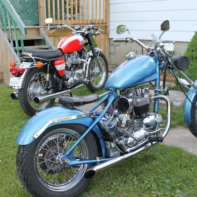 Custom 650 Triumph Chopper motorcycle