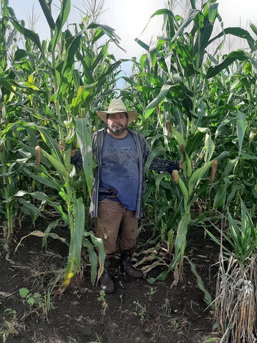 Don Juan in his cornfield in San Diego J