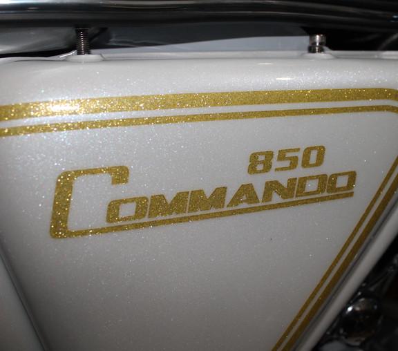 THE WHITE WIDOW  ....  1973 850 NORTON COMMANDO