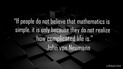 Mathematics vs Life