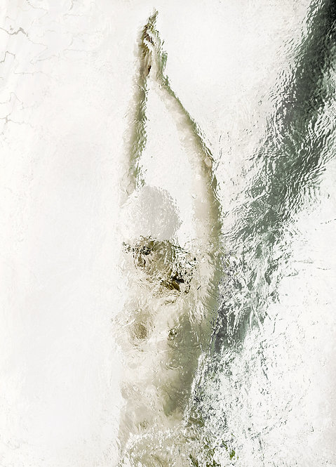 Floating in White #2, 2019
