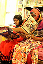 Alif Laila Book Bus Society (ALBBS) in Lahore, Pakistan, WaterBridge Outreach: Books + Water