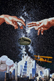 Goldener Fallschirm gegen einstuerzende Neubauten