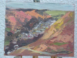Autumn colours oil on wood 11 x 8 ins Available