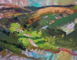 Glyn Collwn. Oil on Canvas, 62 x 84 cm