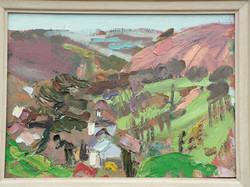 Cwm Oil on wood 11x8ins Available