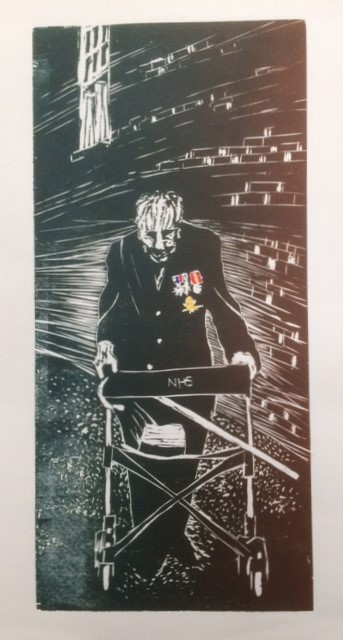Hero by Lesley Lillywhite. 1 of 5 - Woodblock print - £150 unframed