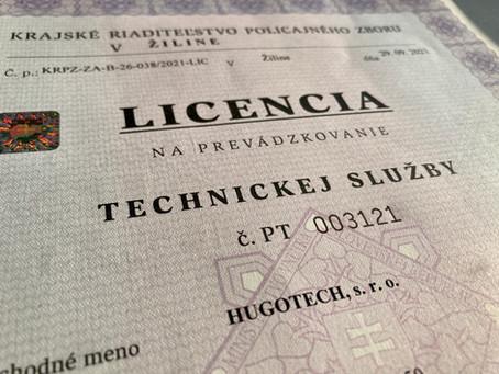 LICENCIA - Technická služba