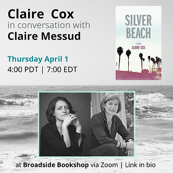 Claire Cox and Claire Messud