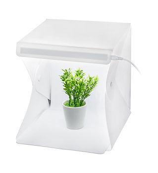 Mini studio box isolated on white backgr