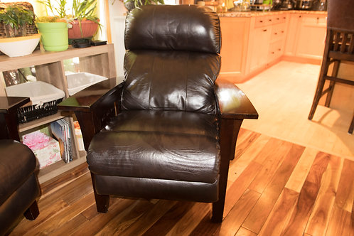 Lazyboy Recliner Brown Leather Chair
