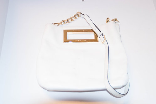 Michael Cors White Leather Purse