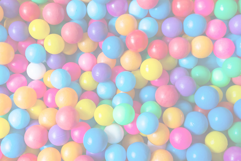 Ball pit balls with white overlay