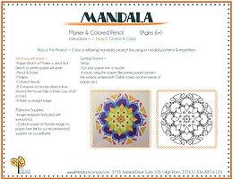 Mandala Pencil/Markers Project
