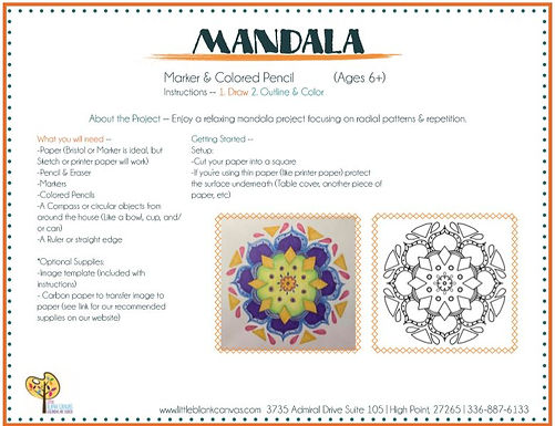 Mandala Pencil/Markers Project