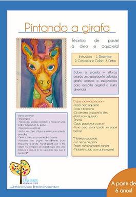Girafa Aquarela e Pastel a oleo Multi-media