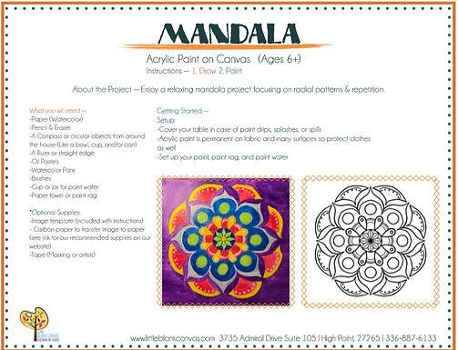 Mandala Acrylic Painting Project