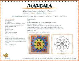 Mandala Watercolor & Oil Pastel Resist Project