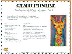 Giraffe Watercolor & Oil Pastel Resist Project