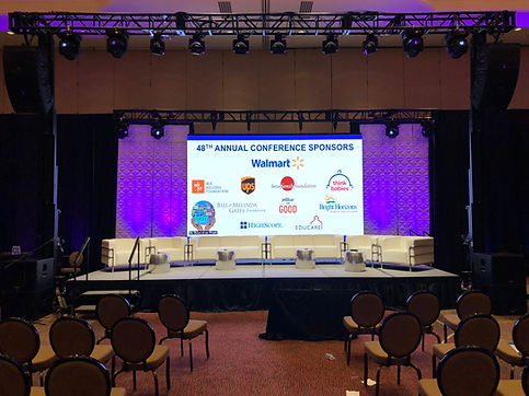 National Conference Audio Visual lightin