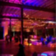 Corporate Event at Doc 5 Union Market uplighting Lounge Furniture Rental Adio Visual