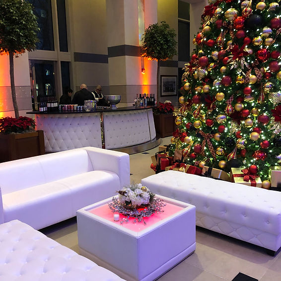 Lounge Furniture Renatal for Holiday Party in DC