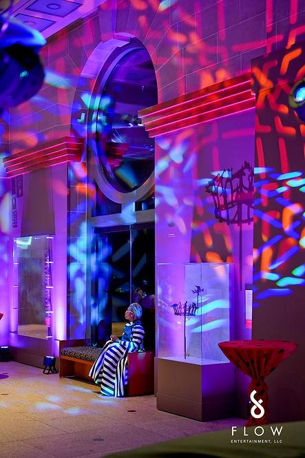 Event lighting african art gallery Washington DC
