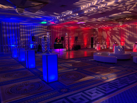 Fire and Ice Theme Prom Lighting Lounge