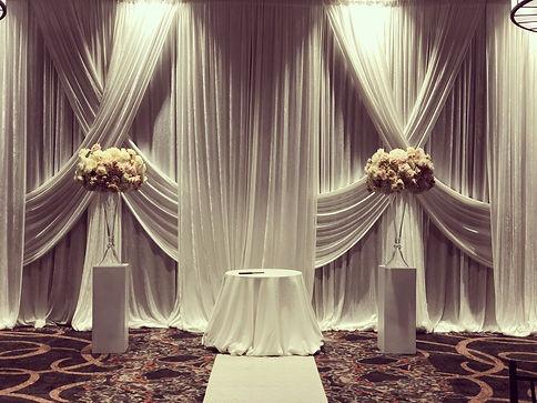 wedding reception pipe and drape ceremon