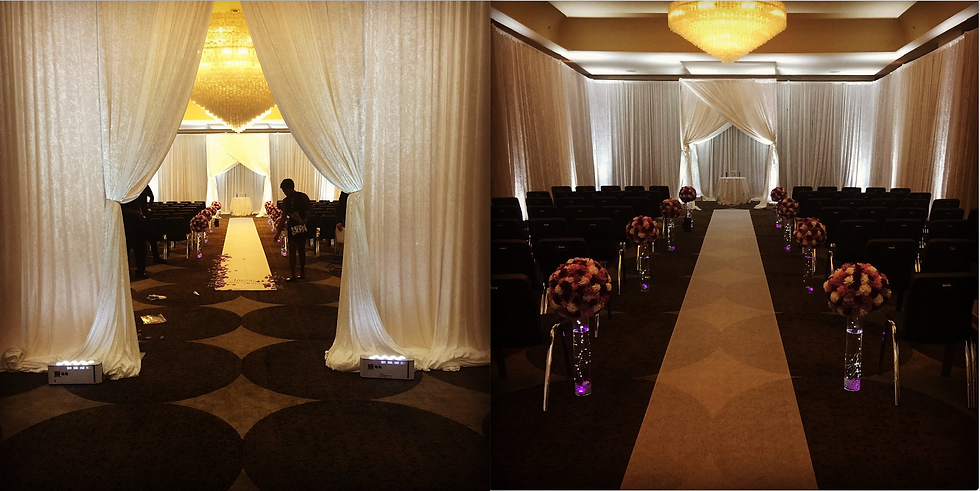 The W Hotel Wedding Pipe and Drape Uplig