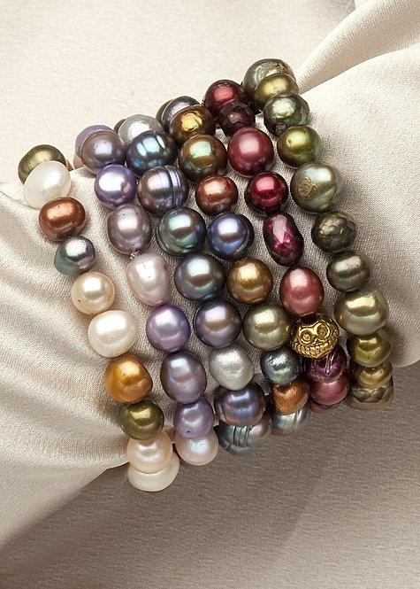 Freshwater pearl stretch bracelets
