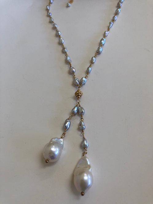 Natural baroque pearls