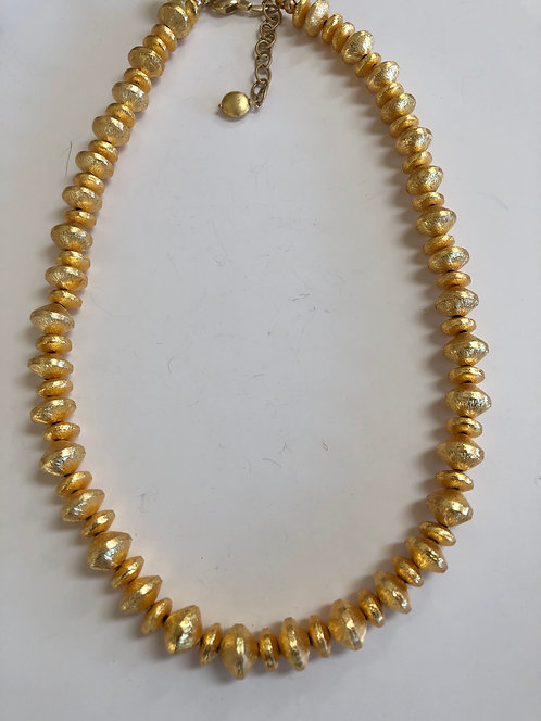 Gold plate beads