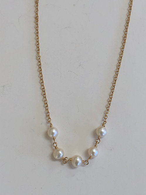 """""""My first pearl necklace"""" 4mm freshwater pearls"""