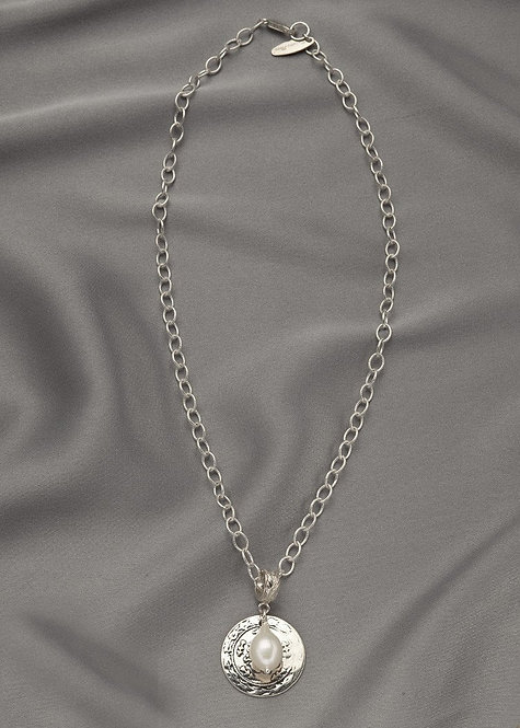 All sterling silver chain, Turkish Coin, and a sterling connector