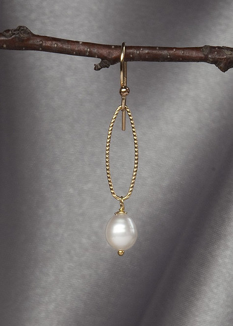 14k gold filled, and pearl drop