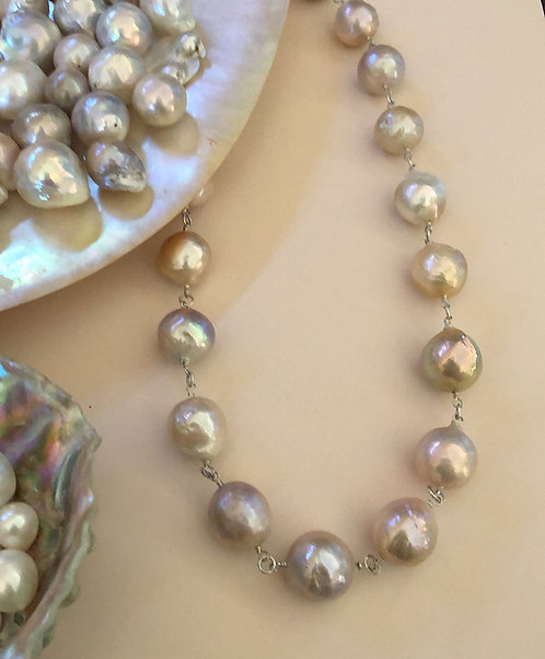 Natural baroque pearls