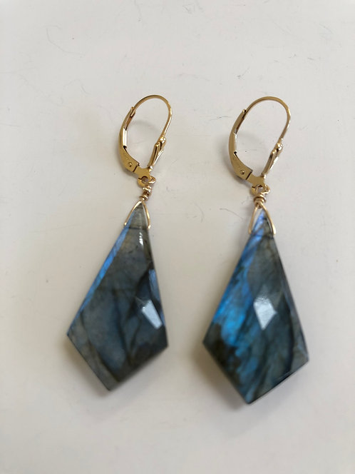 Labradorite drops ,14k gold filled ear wires