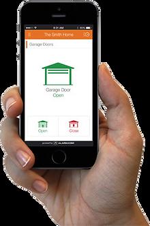 Garage door on smart phone app